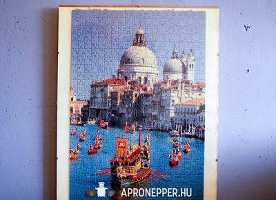 4x 1 000 db puzzle + teljesen üveg IKEA falra tehető képkeret együtt 70×50